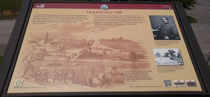 Doubleday Hill Marker image. Click for full size.