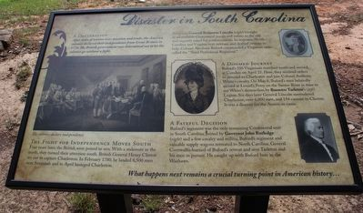 Disaster in South Carolina Marker image. Click for full size.