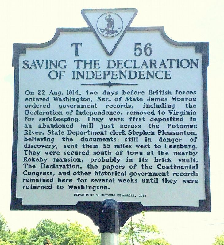 Saving the Declaration of Independence image. Click for full size.