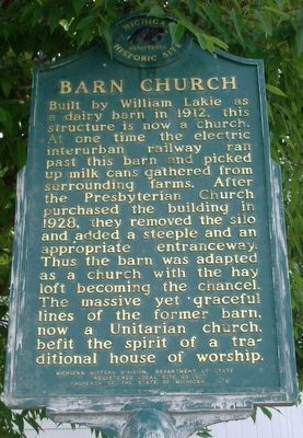 Barn Church Marker image. Click for full size.