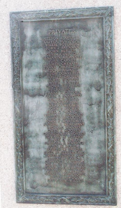 Dover NH Spanish American War Memorial/USS Maine Memorial Marker image. Click for full size.