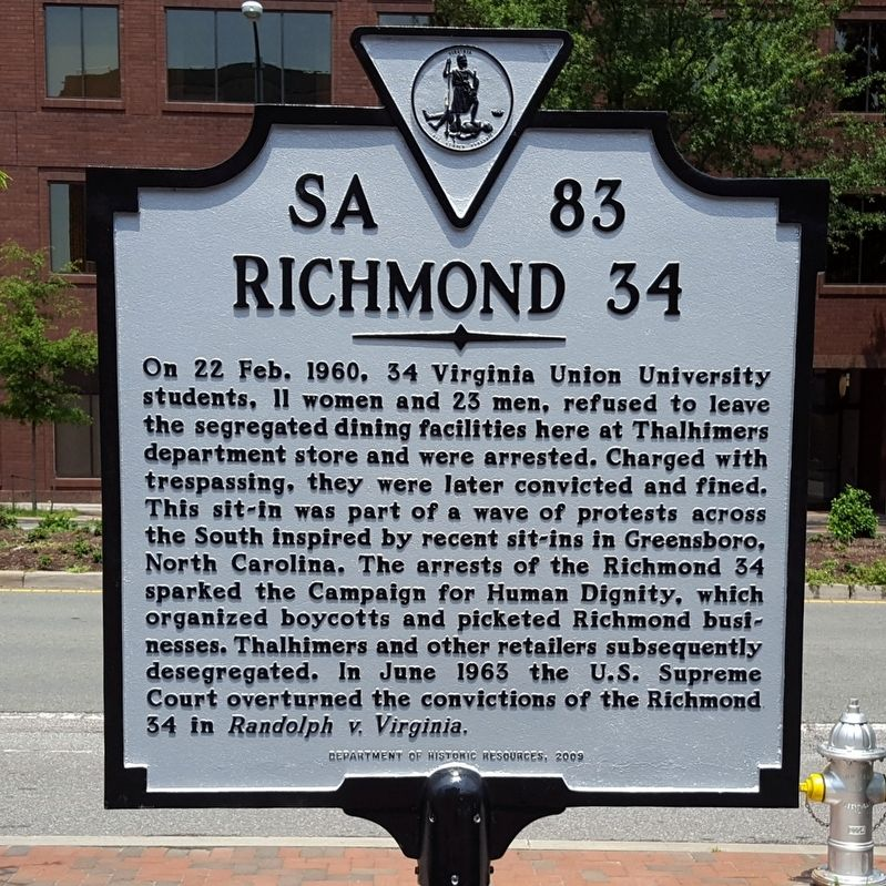 Richmond 34 Marker image. Click for full size.