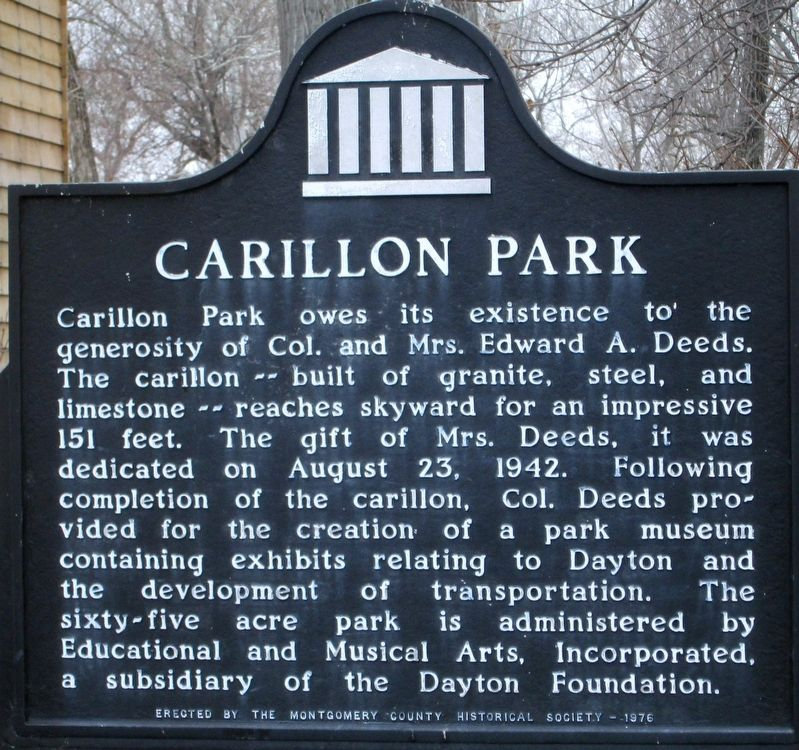 Carillon Park Marker image. Click for full size.