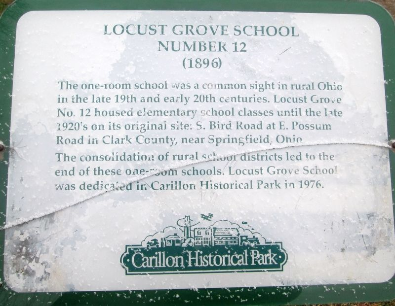 Locust Grove School Marker image. Click for full size.