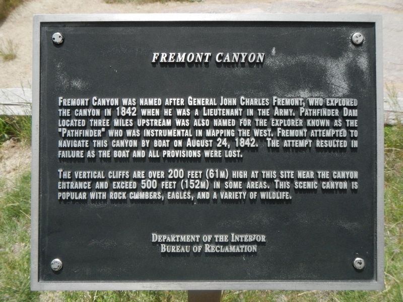 Fremont Canyon Marker image. Click for full size.