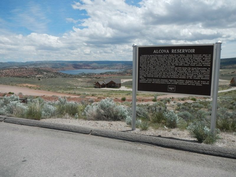 Alcova Reservoir Marker image. Click for full size.