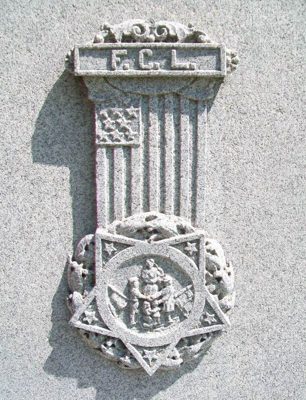Civil War Memorial L.G.A.R. Emblem image. Click for full size.