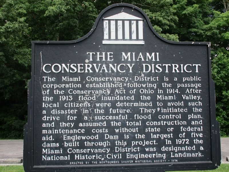 The Miami Conservancy District Marker image. Click for full size.