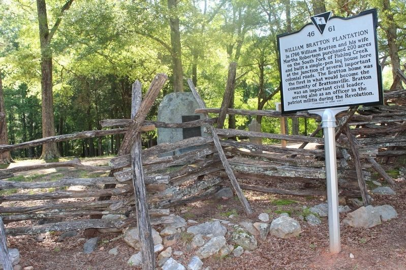 William Bratton Plantation/Battle of Huck's Defeat Marker image. Click for full size.