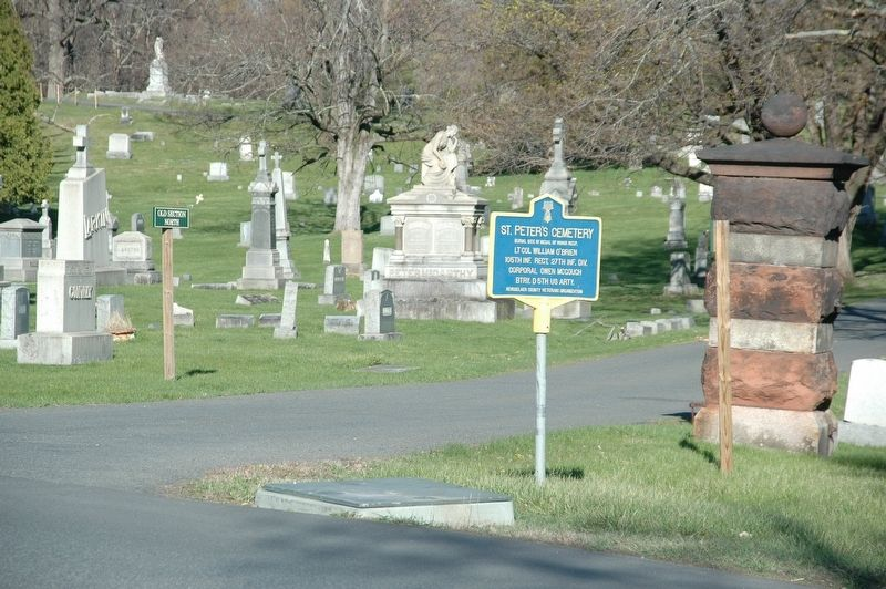 St. Peter's Cemetery & Marker image. Click for full size.