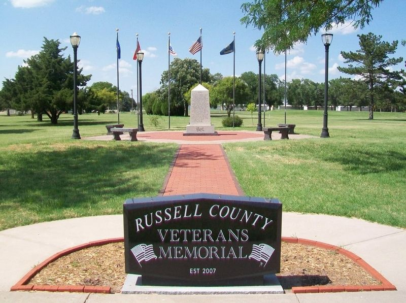 Russell County Veterans Memorial image. Click for full size.