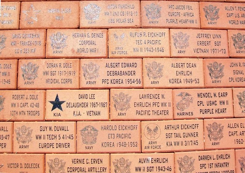 Russell County Veterans Memorial Pavers Detail image. Click for full size.