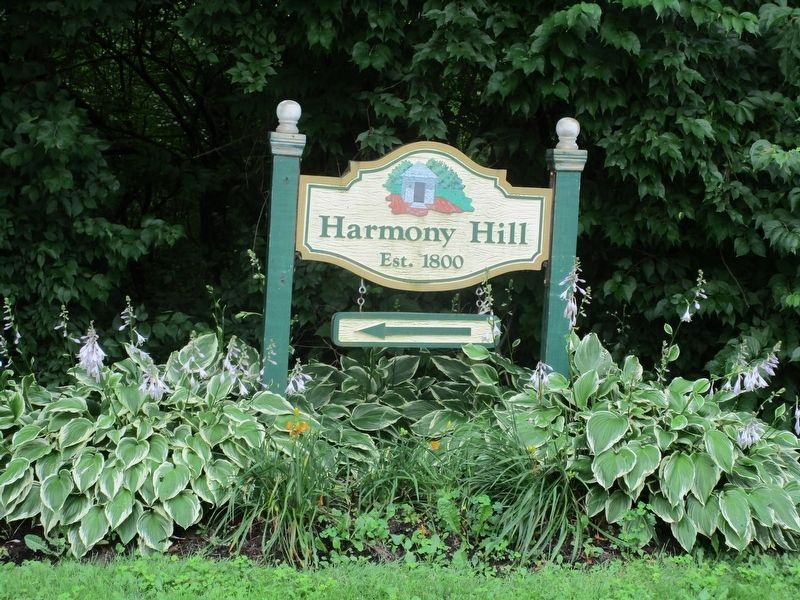 Harmony Hill 1800 Marker image. Click for full size.