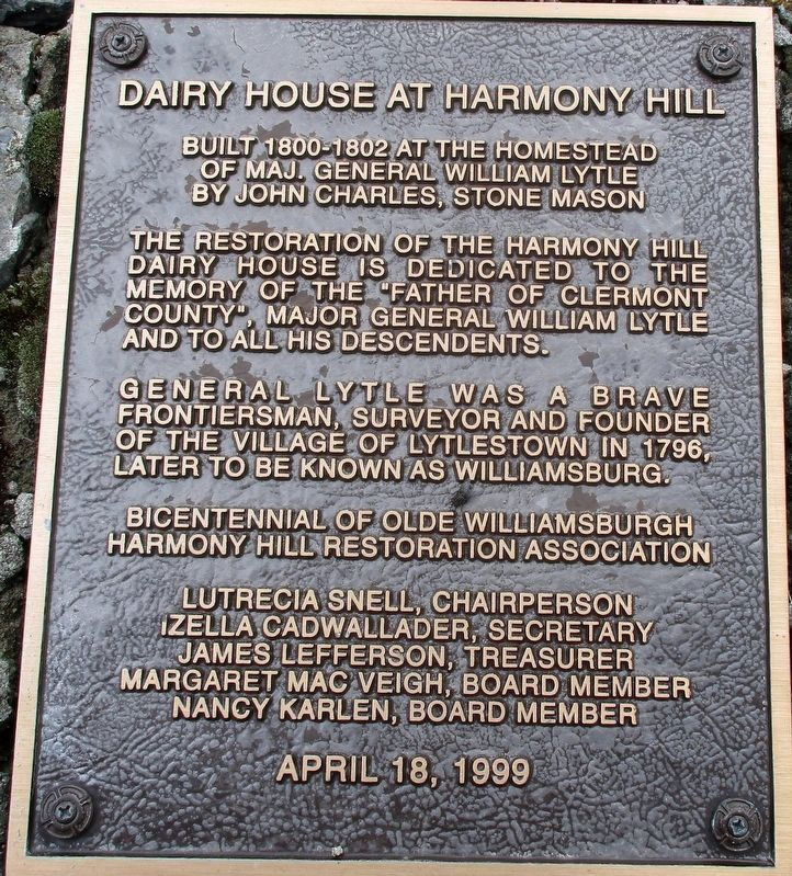 Dairy House at Harmony Hill Marker image. Click for full size.