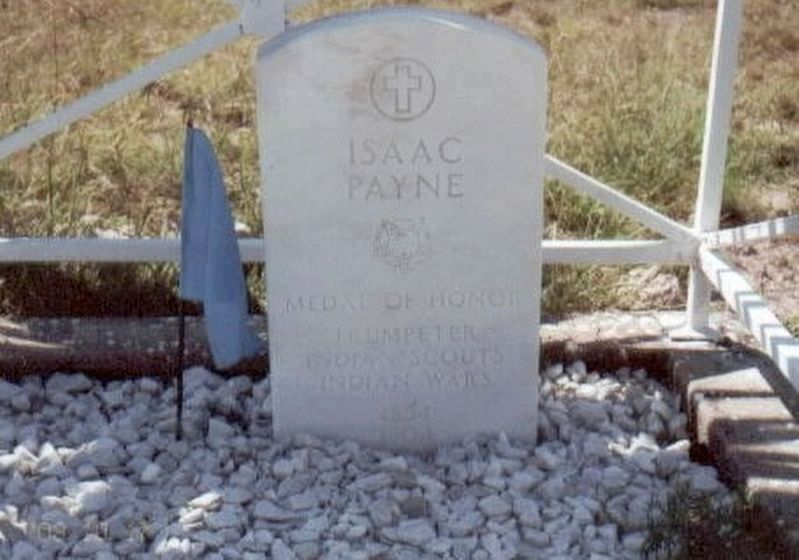 Issac Payne grave marker image. Click for full size.