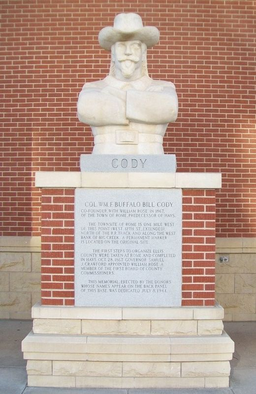 "Col. Wm. F. ""Buffalo Bill"" Cody Statue and Marker image. Click for full size."