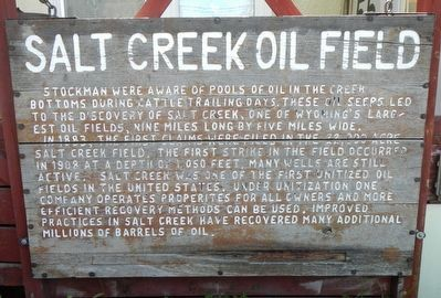 Salt Creek Oil Field Marker image. Click for full size.