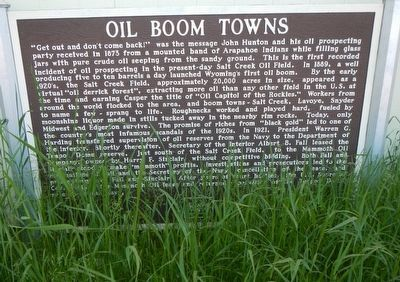 Oil Boom Towns Marker image. Click for full size.