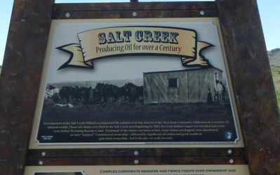 Salt Creek Oil Field Marker, top panel image. Click for full size.