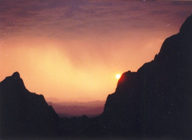 Sunset at Big Bend National Park image. Click for full size.