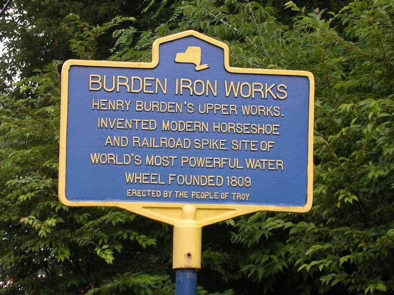 Burden Iron Works Marker image. Click for full size.