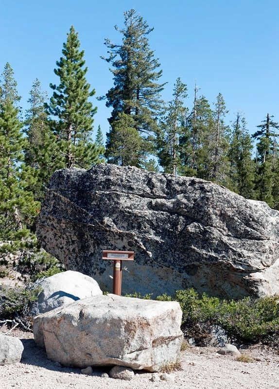 Truckee Trail - Through Boulder Field Marker image. Click for full size.