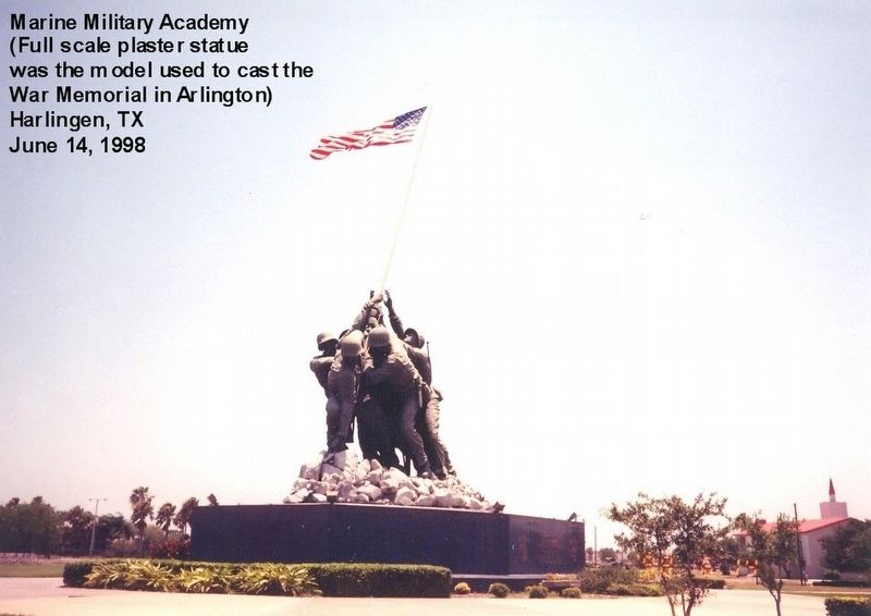 Iwo Jima Memorial-full scale plaster model used to cast the Marine Memorial in Arlington VA image. Click for full size.
