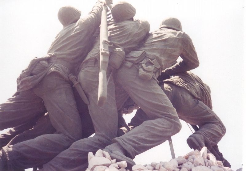 Close up of Iwo Jima Memorial-plaster version image. Click for full size.