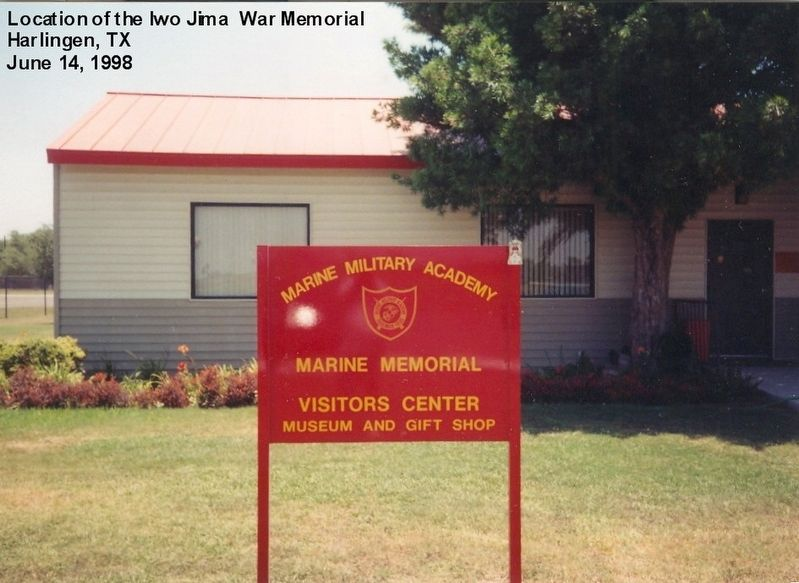Sign at the entrance to the Marine Military Academy image. Click for full size.