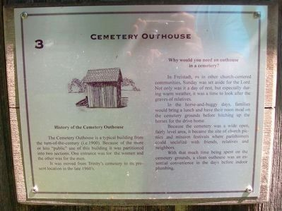 Cemetery Outhouse Marker image. Click for full size.