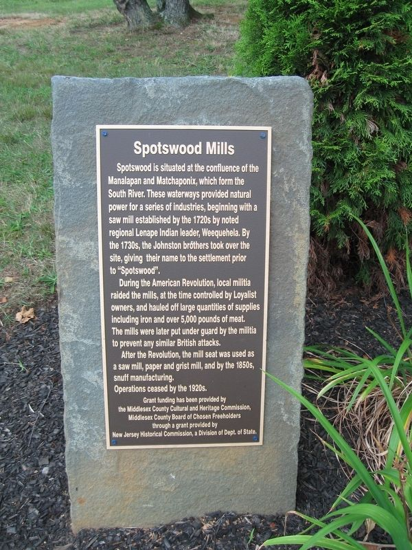 Spotswood Mills Marker image. Click for full size.