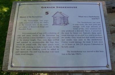 Gierach Smokehouse Marker image. Click for full size.