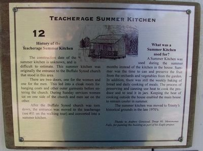 Teacherage Summer Kitchen Marker image. Click for full size.