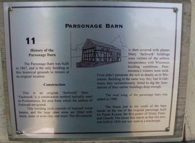 Parsonage Barn Marker image. Click for full size.