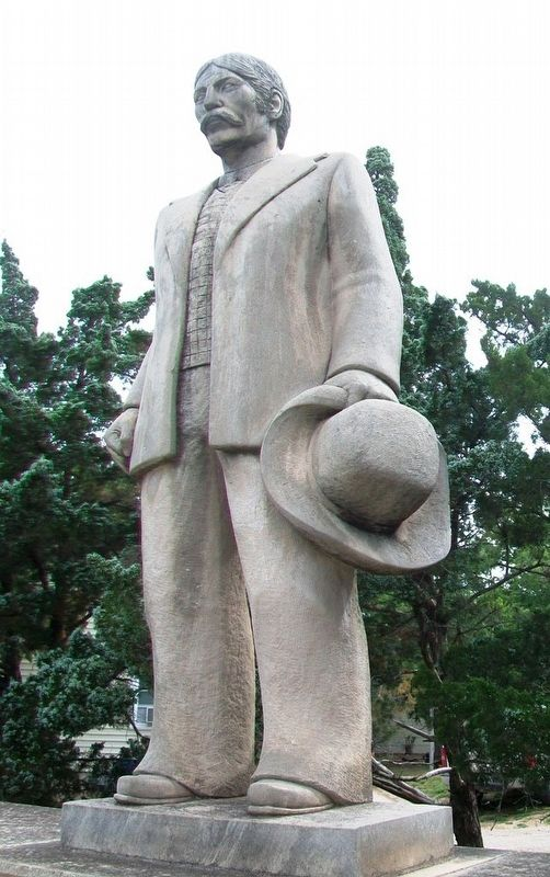 Statue at Original Boot Hill Cemetery image. Click for full size.