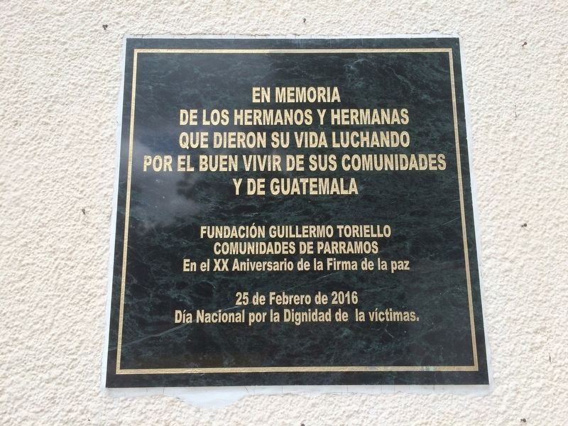 The 20th Anniversary of the Guatemalan Peace Accords Marker image. Click for full size.