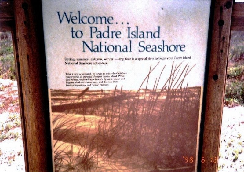 Padre Island National Seashore Marker image. Click for full size.