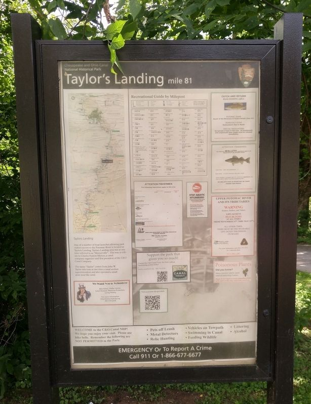 Taylor's Landing Sign image. Click for full size.