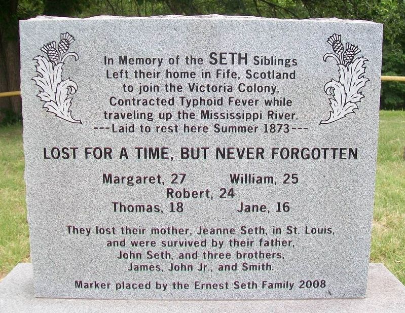 In Memory of the SETH Siblings Marker image. Click for full size.