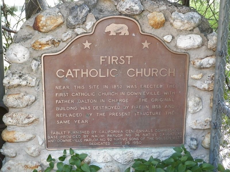 First Catholic Church Marker image. Click for full size.