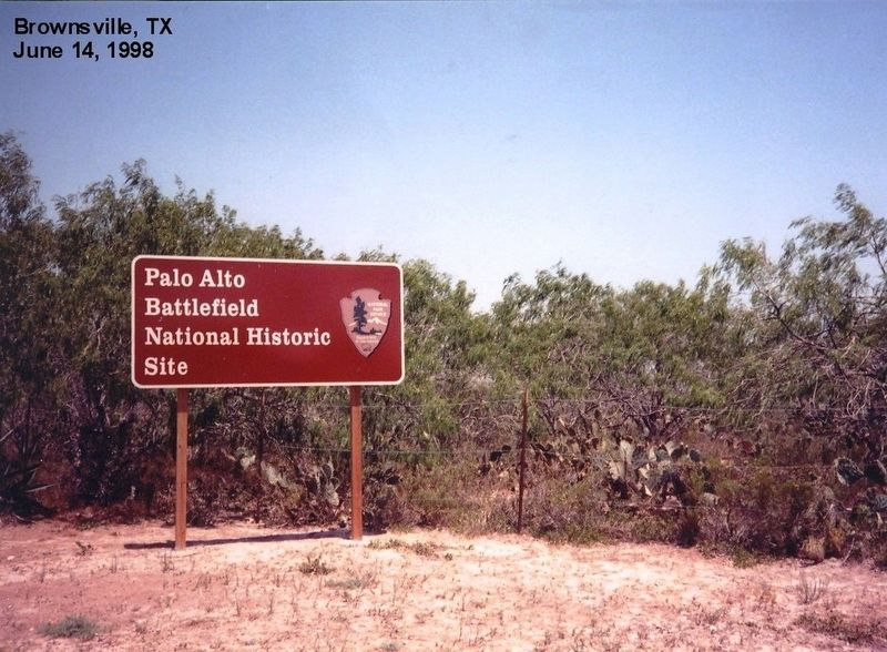 Sign at the entrance to the Palo Alto Battlefield image. Click for full size.