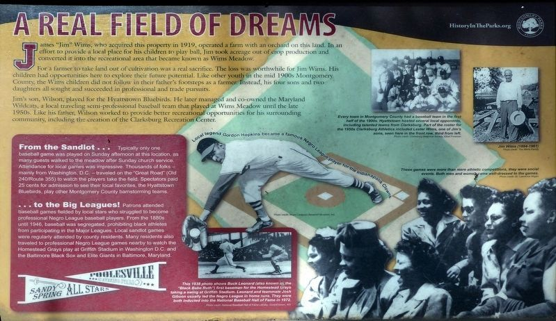 A Real Field of Dreams Marker image. Click for full size.