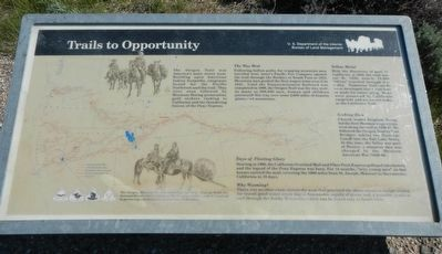 Trails to Opportunity Marker image. Click for full size.