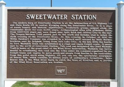 Sweetwater Station Marker image. Click for full size.