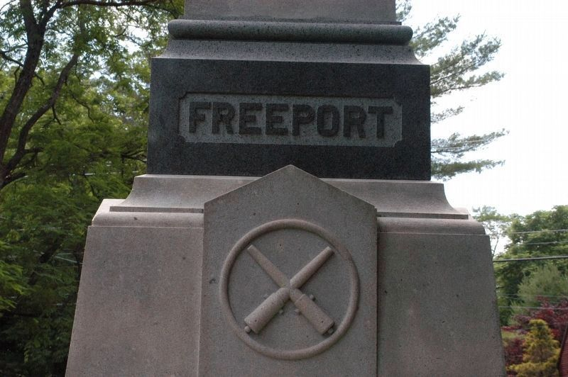 Freeport Maine Civil War Monument Marker image. Click for full size.