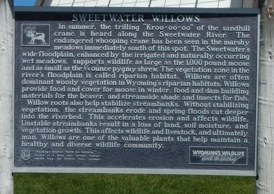 Sweetwater Willows Marker image. Click for full size.