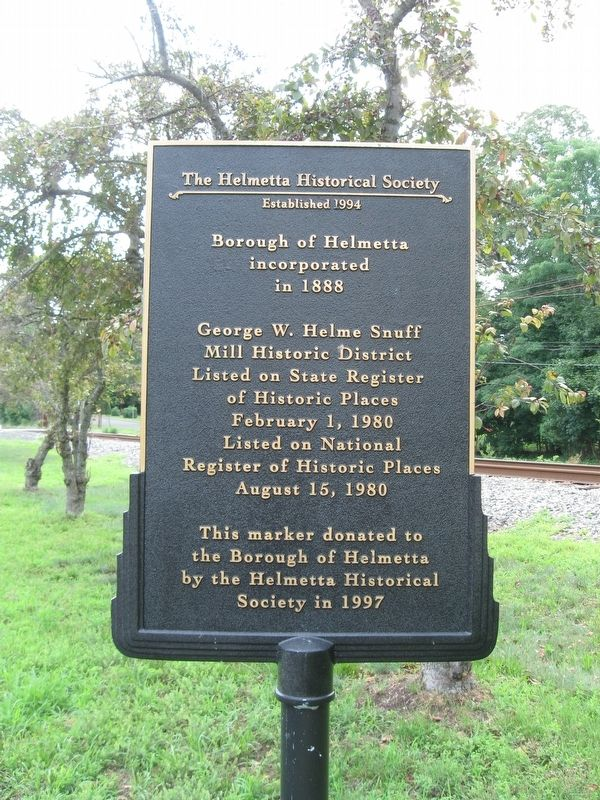 Borough of Helmetta Marker image. Click for full size.
