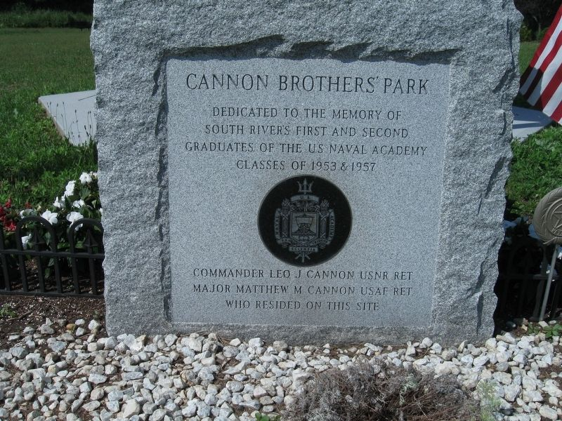 Cannon Brothers' Park Marker image. Click for full size.
