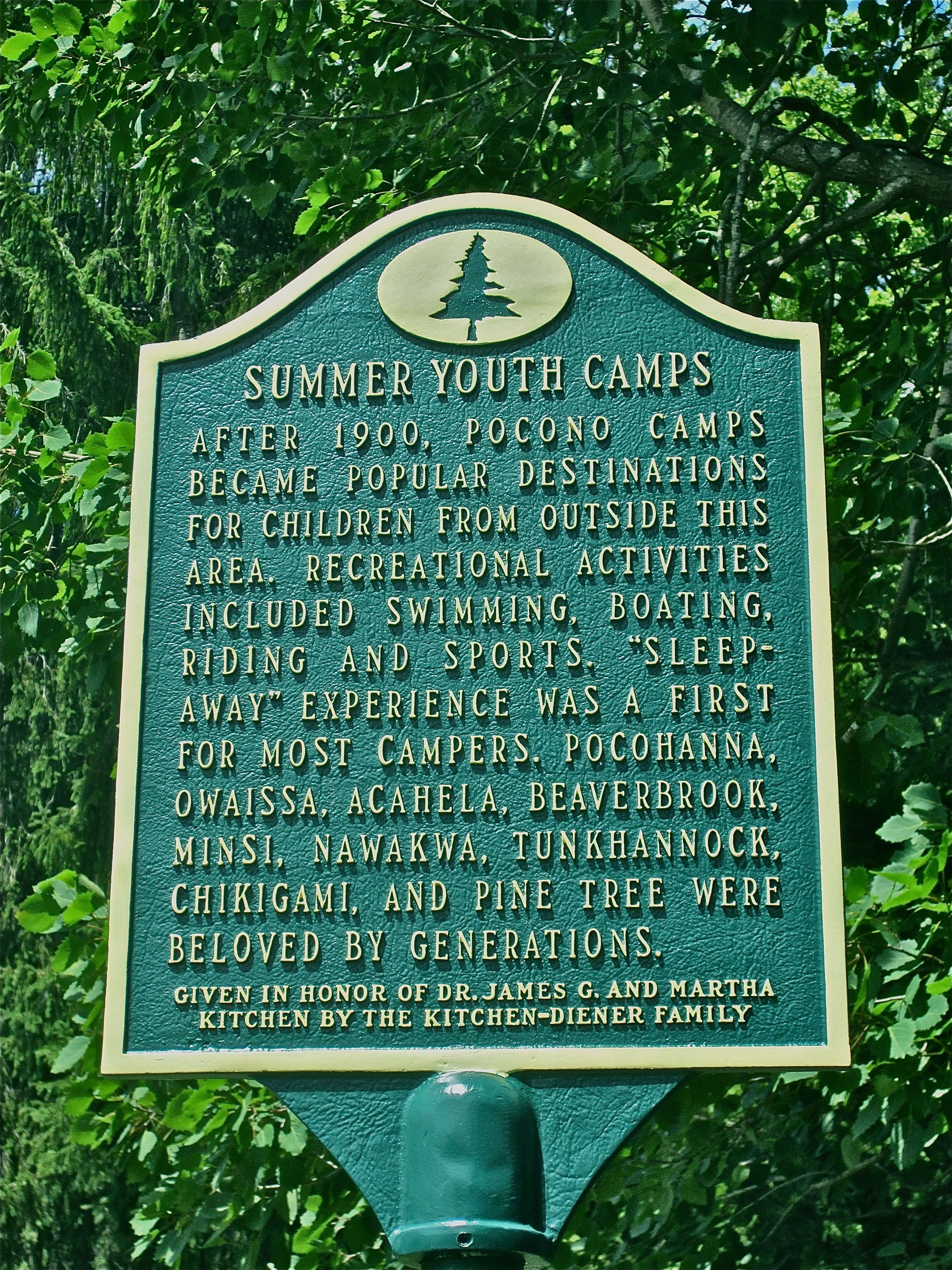 Summer Youth Camps Marker