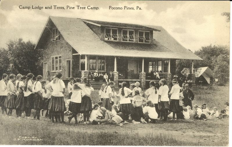 The Lodge & Tents, Pine Tree Camp, Pocono Pines image. Click for full size.